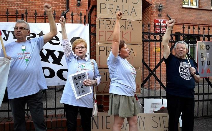 Demonstracja w obronie Sądu Najwyższego w Gorzowie Wlkp., 3.07.2018