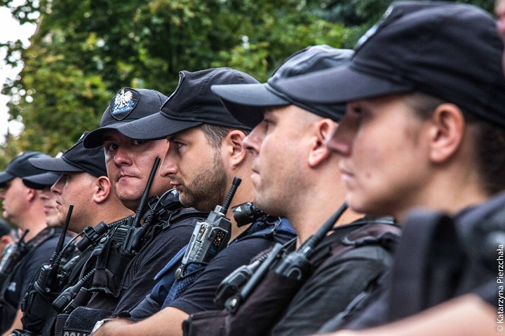 Policja przedSejmem, 18 lipca 2018 r.