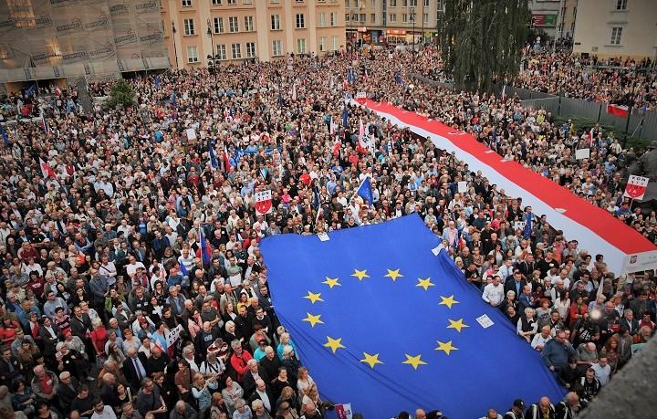 demonstracja wobronie Sądu Najwyższego, Warszawa, 3.07.2018