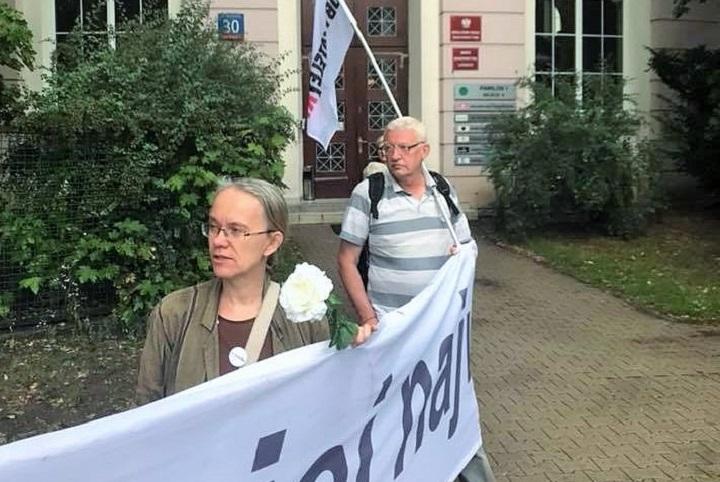 Pikieta przedKrajową Radą Sądownictwa, 11 lipca 2018