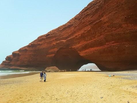 łuki skalne na plaży Legzira
