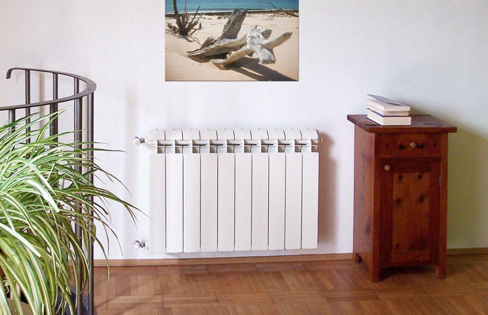 Биметалл радиаторы әдемі көрінеді