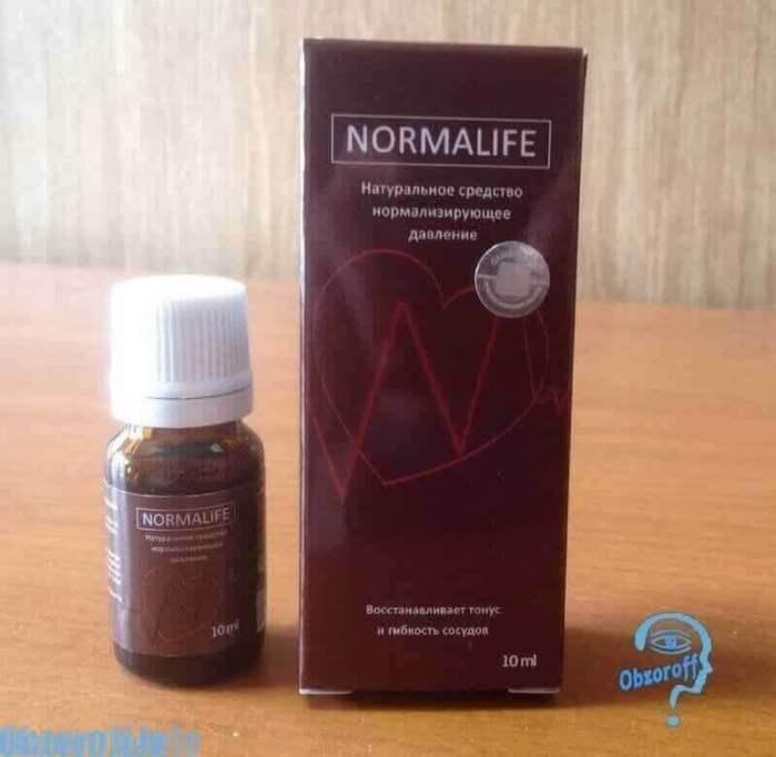 упаковка и бутылёк Normalife