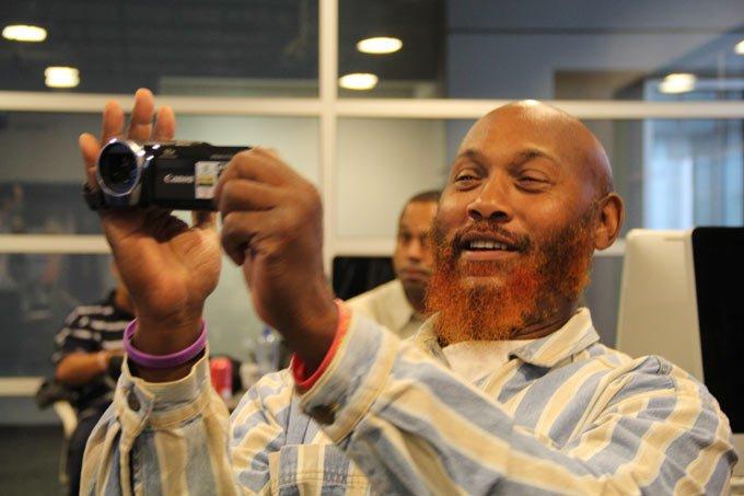 William Lipscomb tries the new camera
