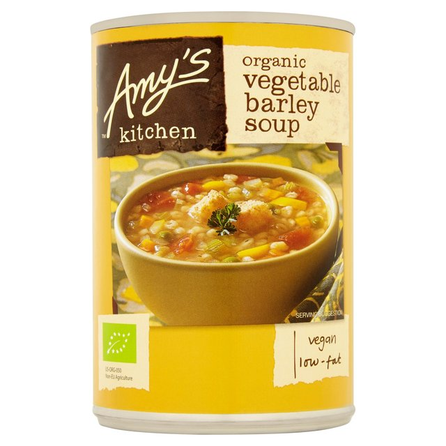 Amys Kitchen Low Fat Vegetable Barley Soup 400g from Ocado