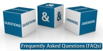 blocks with fequently asked questions enscribed