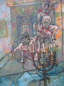 ROBBIE BUSHE (B. 1964)  'CHANGING A LIGHT BULB', 2007