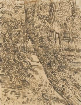 Vincent van Gogh (1853 - 1890) 'Tree with Ivy in the Asylum Garden' 1889
