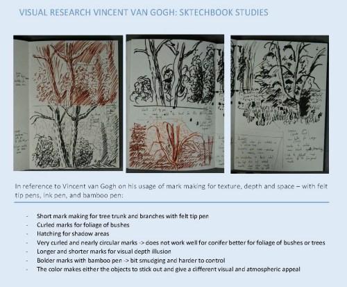 Stefan513593 - visual studies - Vincent van Gogh mark making