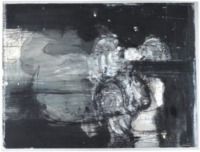 Night Forms, 1961 (gouache & charcoal with acrylic on paper)