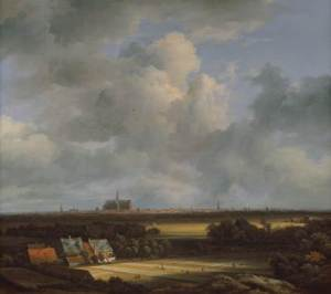 RUISDAEL, JACOB van (1670-75) 'View of Haarlem'