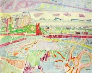 Max Gubler - Rain Landscape, 1949