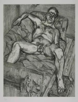 Man Posing 1985 Lucian Freud 1922-2011 Purchased 1987 http://www.tate.org.uk/art/work/P77182