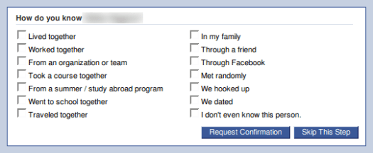 We dated on Facebook