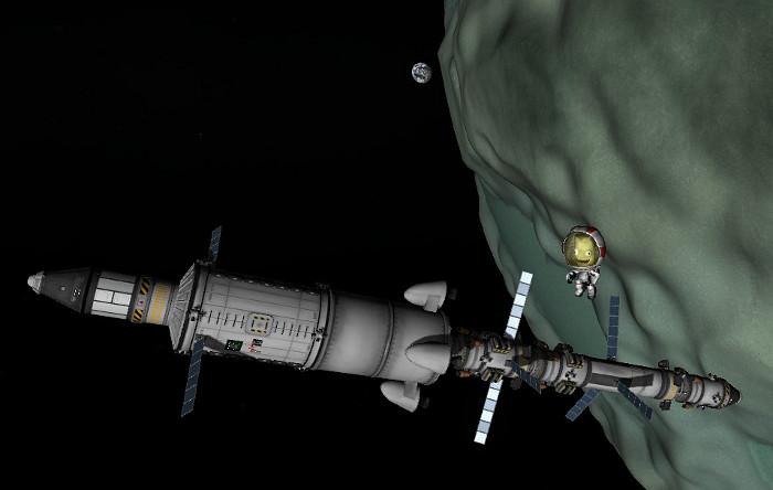 Space Station around Minmus