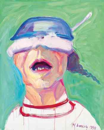 Maria Lassnig_Self Portrait with Saucepan_1995