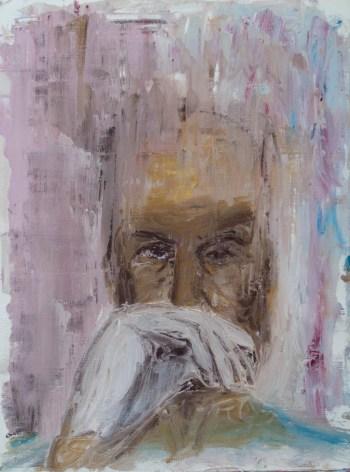 Stefan513593 - daily self-portrait #13: oil sticks on paper (40x30cm)