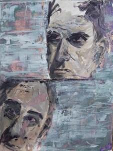 Stefan513593 - daily self-portrait #18: acrylic on paper (48x36cm)