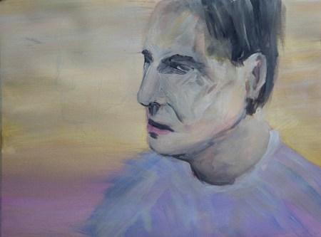 Stefan513593 - daily self-portrait #19: gouache on paper (31x42cm)