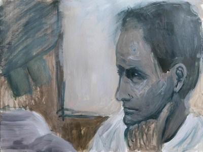 Stefan513593 - daily self-portrait #22: Acrylic on paper (48x36cm)