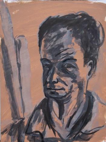 Stefan513593 - daily self-portrait #4: ink on prepared paper (40x30cm)