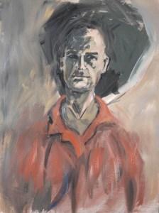 Stefan513593 - daily self-portrait #5: acrylic paint on prepared paper (40x30cm)