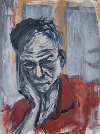 Stefan513593 - daily self-portrait #6: acrylic on paper (40x30cm)