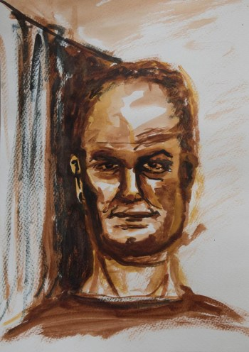 Stefan513593 - daily self-portrait #8: watercolor on paper (42x30cm)