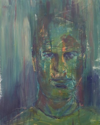 Stefan513593 - daily self-portrait #30: Acrylic on acrylic paper (48x36cm)