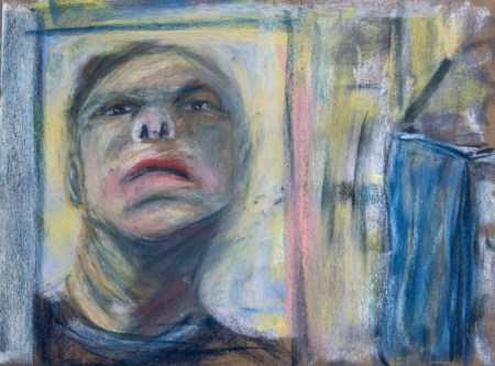 Stefan513593 - daily self-portrait #32: Pastels on PastelCard (40x30cm)