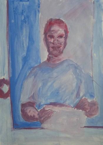 Stefan513593 - daily self-portrait #33: Gouache on Bristol paper (42x30cm)