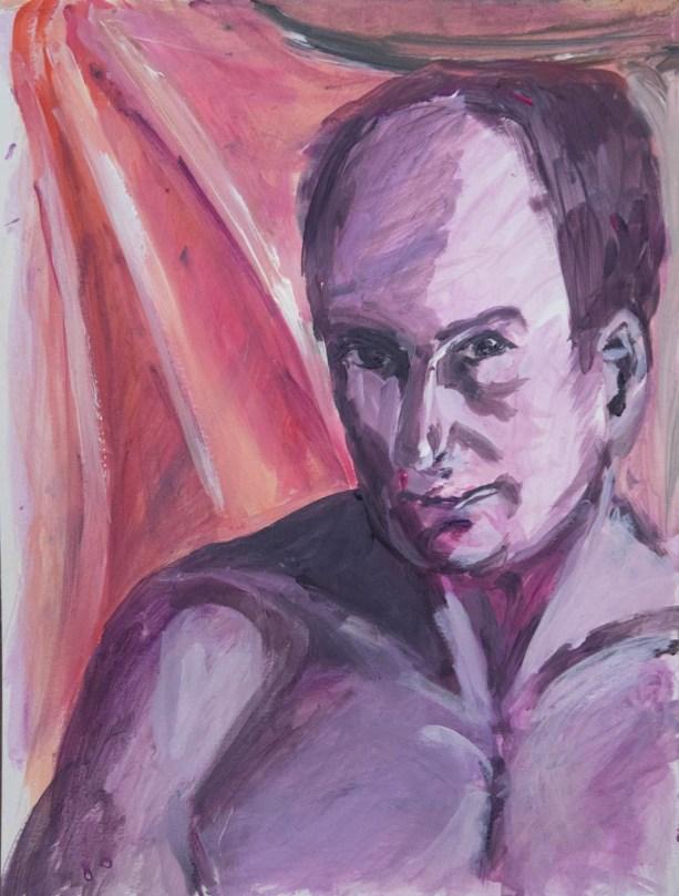 Stefan513593 - daily self-portrait #34: Acrylic on acrylic paper (48x36cm)