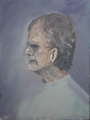 Stefan513593 - daily self-portrait #42: Oil on linen paper (48x36cm)
