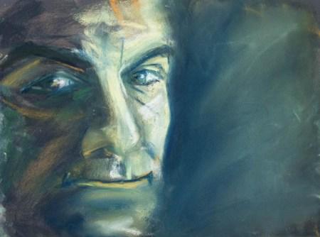 Stefan513593 - daily self-portrait #46: Pastel on PastelCard (40x30cm)