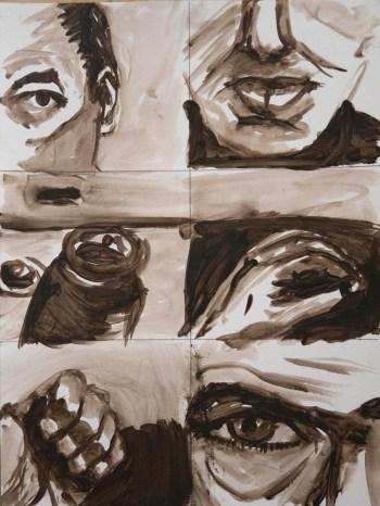 Stefan513593 - daily self-portrait #58: Acrylic on acrylic paper (48x36cm)