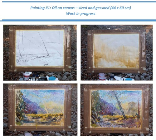 Stefan513593 - Project 4 - Outdoor painting in oil - work in progress