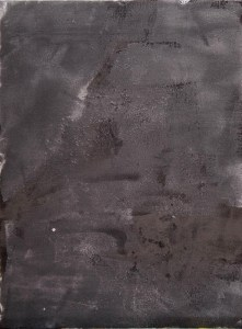 Stefan513593 - abstract ground - #3 (charcoal powder, glue on board 40x30cm)