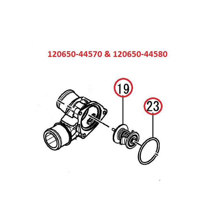 Nuevos : Termostato motores intraborda diesel Yanmar 4BY y 6BY