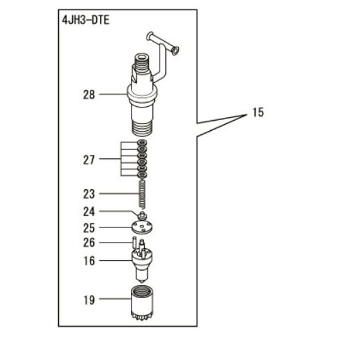 Usados : Toberas para inyectores Yanmar 4JH3