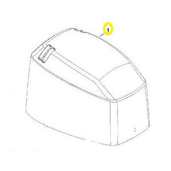 Usados : Capota motor con pegatinas Mariner F60 4 tiempos