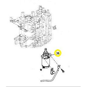Usados : Motor de arranque fuerabordas Mariner Mercury 30