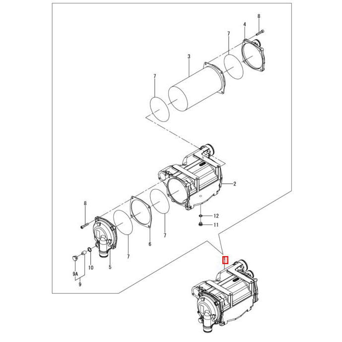 Usados : Enfriador intercambiador de aire YANMAR 4BY-150