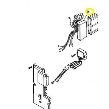 Usados : Caja negra Mariner Mercury 50-55-60 cv 3 Cil.
