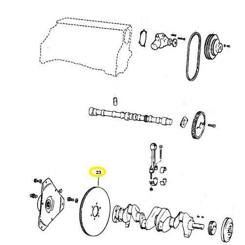 Usados : Volante de inercia de motor Mercruiser 3,0 GM