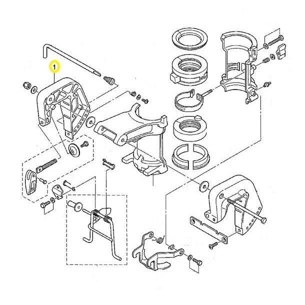 Usados : Soporte Derecha Completo con palomillas Mariner