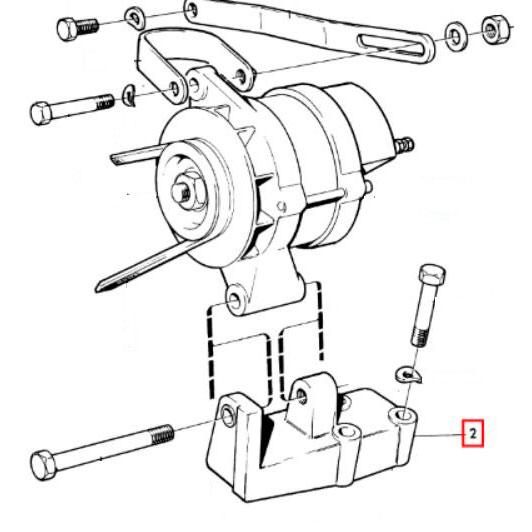Usados : Consola de anclaje del alternador Volvo gasolina