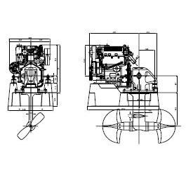 Motor de propulsión Diésel LOMBARDINI MARINE 30HP Mod. LDW
