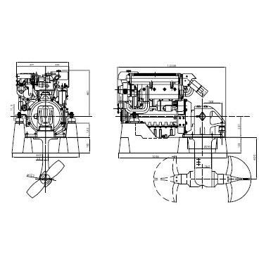Motor de propulsión Diésel LOMBARDINI MARINE 87HP Mod. LDW