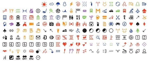 Shigetaka Kurita 'NTT DOCOMO. Emoji (original set of 176)' 1998–99