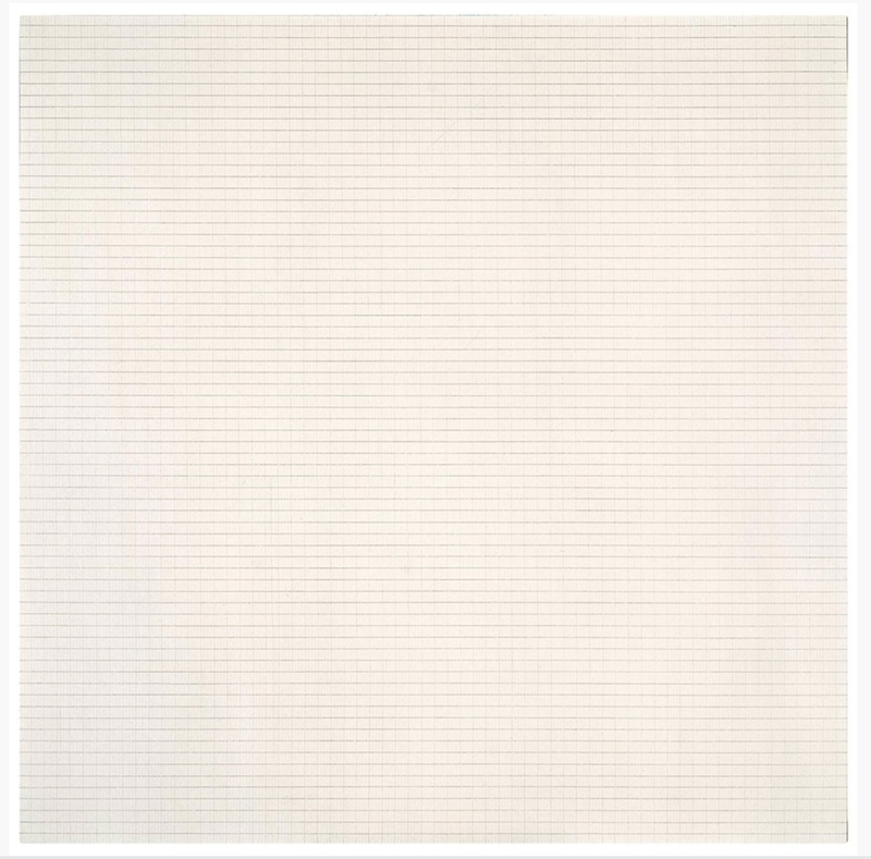 Agnes Martin 'Drift of Summer', 1965 - https://www.sfmoma.org/artwork/FC.691